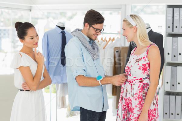 Divat designer ruha modell férfi stúdió Stock fotó © wavebreak_media