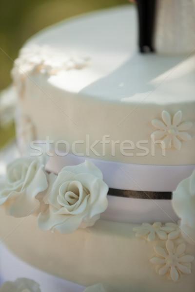 Detail shot of a wedding cake Stock photo © wavebreak_media