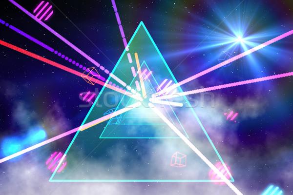 Digitaal gegenereerde laser cool kleuren partij Stockfoto © wavebreak_media