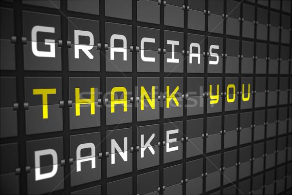 Thank you in languages on black mechanical board Stock photo © wavebreak_media