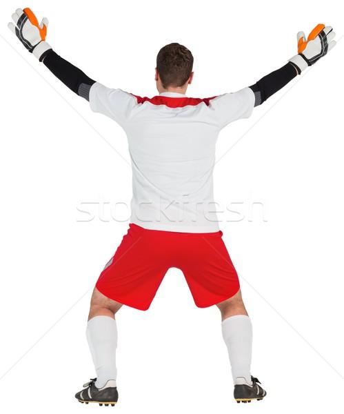 Portero blanco listo guardar fútbol mundo Foto stock © wavebreak_media
