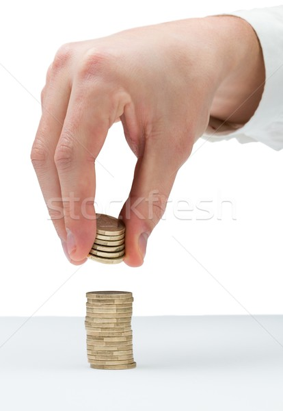 Businessman counting his coins at desk Stock photo © wavebreak_media
