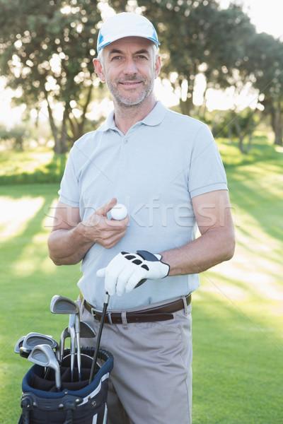 красивый гольфист Постоянный сумка для гольфа гольф Сток-фото © wavebreak_media