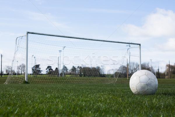 Futball üres pálya gól fű sport Stock fotó © wavebreak_media