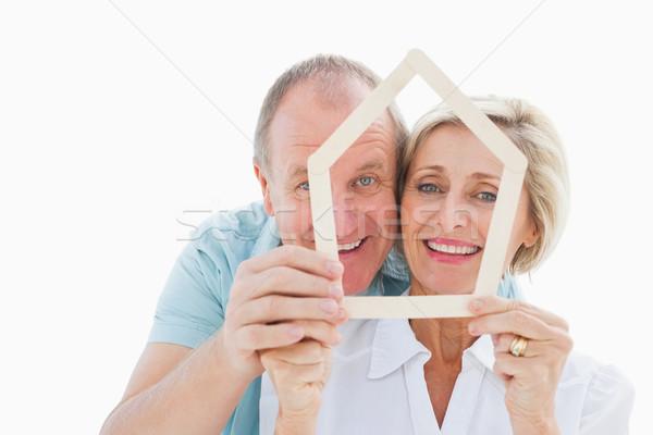 Gelukkig ouder paar huis vorm Stockfoto © wavebreak_media