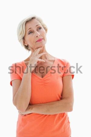 Denken ouder vrouw witte vrouwelijke Stockfoto © wavebreak_media