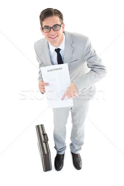 Geschäftsmann Vertrag weiß Business Stock foto © wavebreak_media