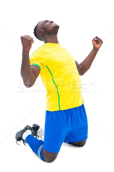 Football player in yellow celebrating a win Stock photo © wavebreak_media