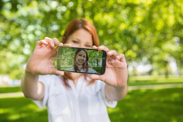 Mooie telefoon park Stockfoto © wavebreak_media