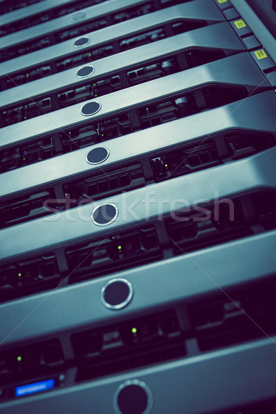 Black rack mounted server tower Stock photo © wavebreak_media