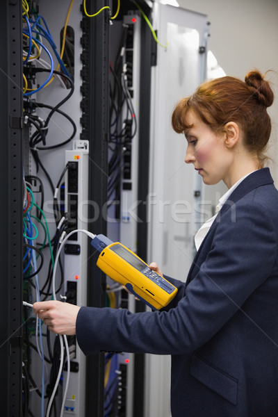 Techniker digitalen Kabel Server groß Rechenzentrum Stock foto © wavebreak_media