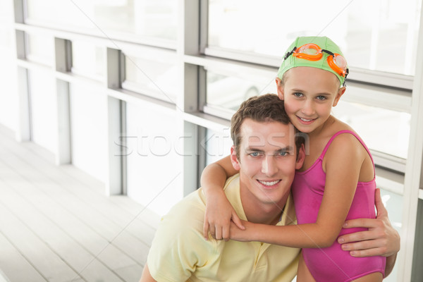スイミング 監督 かわいい 女の子 レジャー センター ストックフォト © wavebreak_media