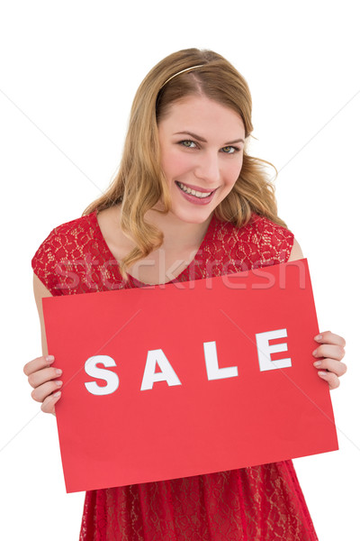 Sorridere rosso vendita poster Foto d'archivio © wavebreak_media