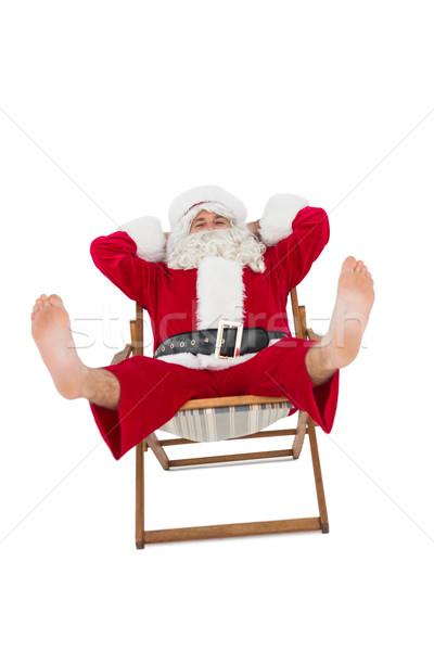 Ligstoel witte christmas glimlachend Stockfoto © wavebreak_media