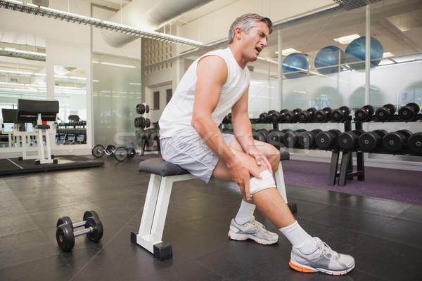 раненый человека колено весов комнату Сток-фото © wavebreak_media