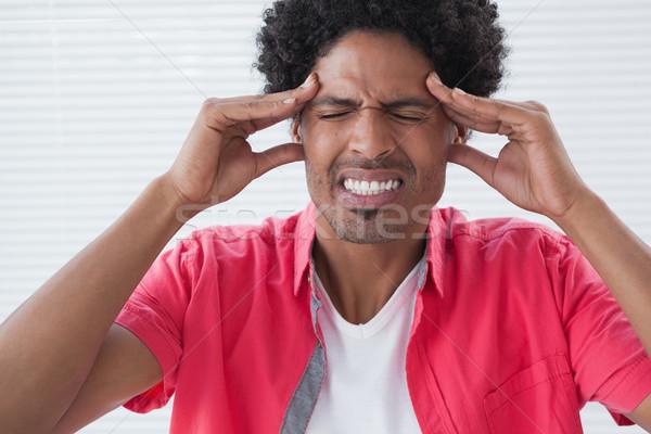 Biznesmen głowy biuro ręce zdrowia Zdjęcia stock © wavebreak_media