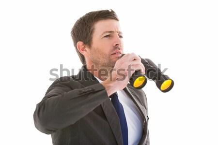 ハンサム ビジネスマン 双眼鏡 白 ストックフォト © wavebreak_media