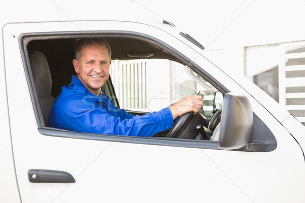 улыбаясь вождения ван за пределами склад Сток-фото © wavebreak_media
