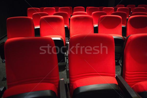 üres sorok piros film szék Stock fotó © wavebreak_media