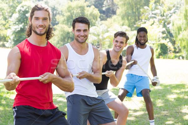 Fitness grupy gry wojny człowiek Zdjęcia stock © wavebreak_media