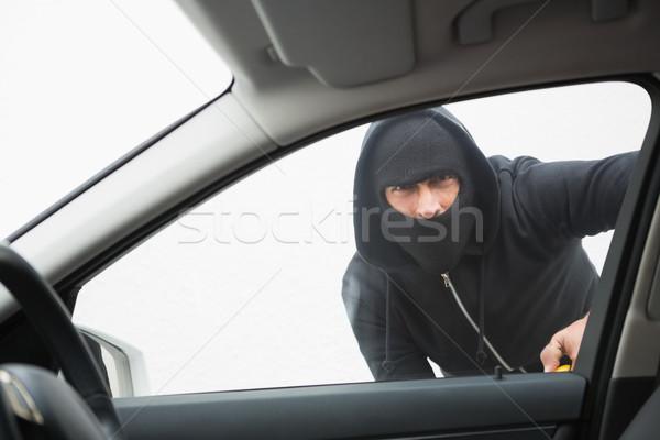 Ladrão carro chave de fenda homem retrato seis Foto stock © wavebreak_media