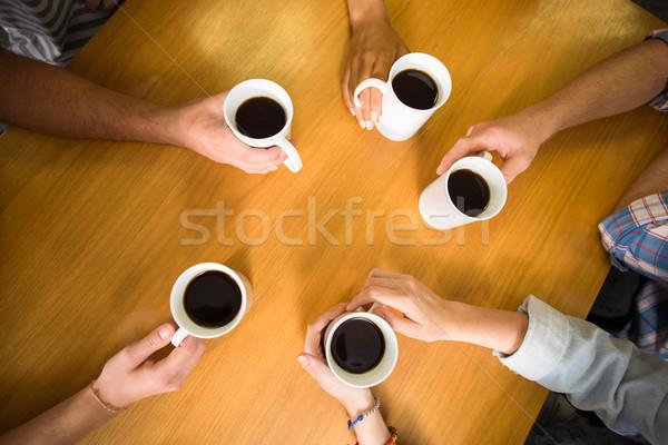 рук кофе таблице мнение Сток-фото © wavebreak_media