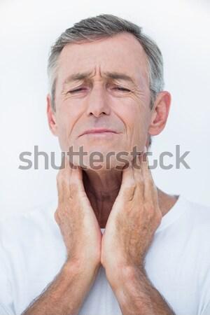 ストックフォト: 患者 · 首 · 医療 · オフィス · 男