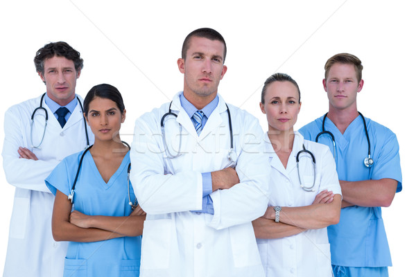 Concentrated doctors and nurses looking at the camera Stock photo © wavebreak_media