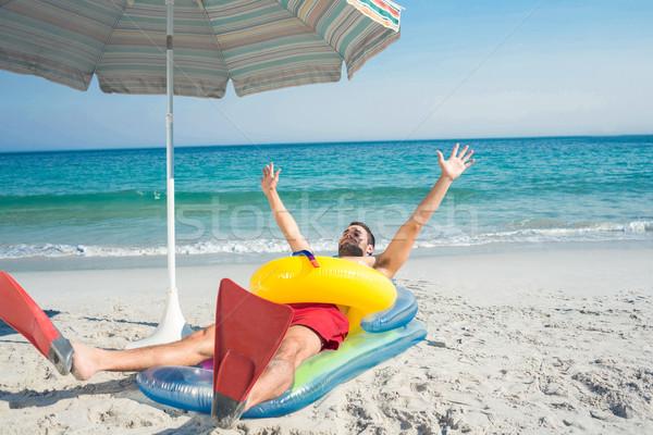 Mann Strand Gummi Ring glücklich Stock foto © wavebreak_media