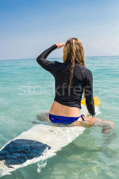 女性 サーフボード ビーチ 幸せ スポーツ ストックフォト © wavebreak_media