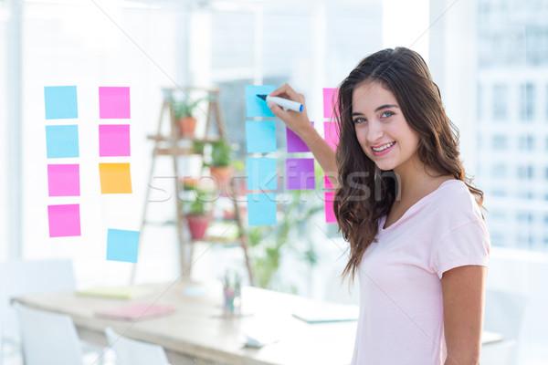 Mosolyog nők ír fotó szerkesztő iroda Stock fotó © wavebreak_media