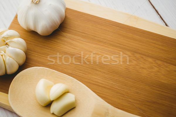 ニンニク クローブ 電球 まな板 コピースペース キッチン ストックフォト © wavebreak_media