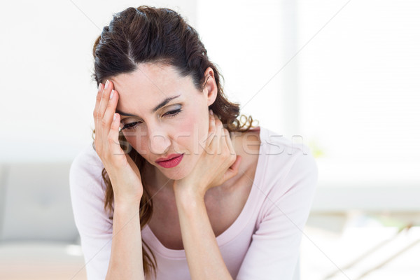 Bruna mal di testa bianco donna home salute Foto d'archivio © wavebreak_media
