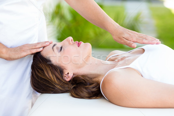 Mulher reiki tratamento pele Foto stock © wavebreak_media