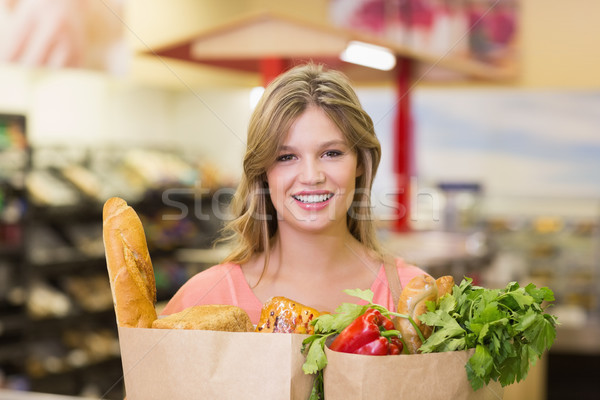 肖像 笑みを浮かべて かなり 買い 食品 ストックフォト © wavebreak_media