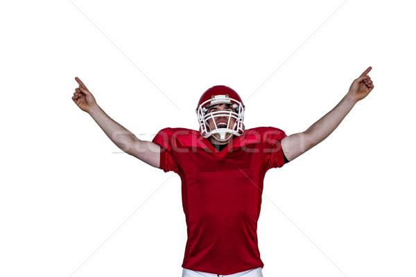 Triumf amerykański czarny sportu czerwony Zdjęcia stock © wavebreak_media