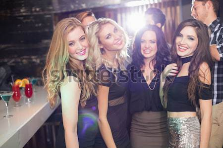 Composite image of friends celebrating bachelorette party Stock photo © wavebreak_media