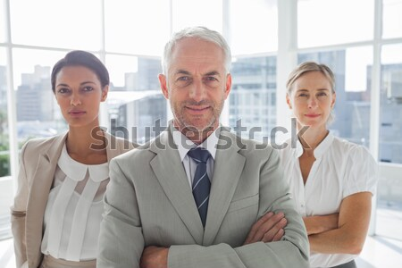 Businesswoman introducing colleagues together Stock photo © wavebreak_media