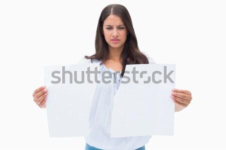 Femme d'affaires carte vierge gris composite numérique affaires Photo stock © wavebreak_media