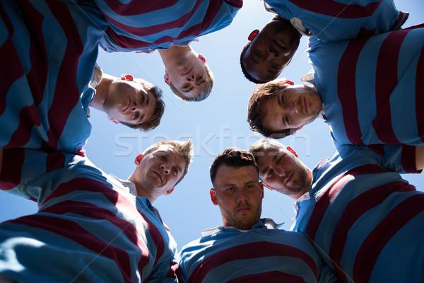 Retrato rugby jogadores em pé céu claro Foto stock © wavebreak_media