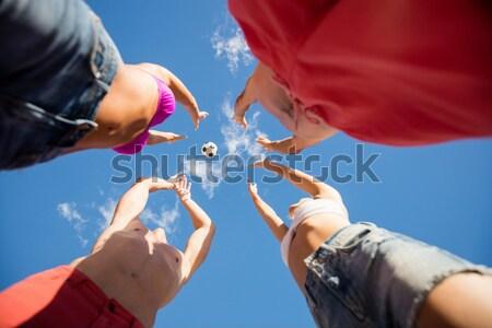 çocuklar çizme kamp portre mutlu spor Stok fotoğraf © wavebreak_media