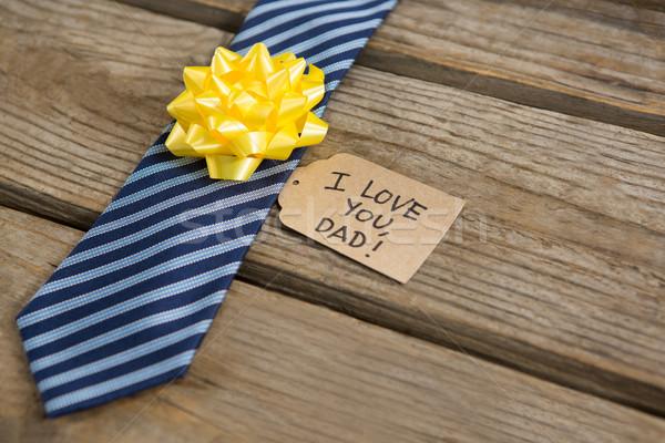 Close up of necktie with greetings Stock photo © wavebreak_media