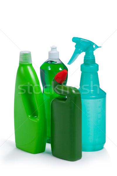 Deterjan şişeler beyaz uygunluk şişe Stok fotoğraf © wavebreak_media