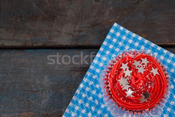 украшенный синий салфетку таблице Сток-фото © wavebreak_media