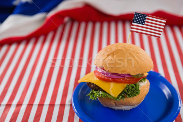 Burger decorated with 4th july theme Stock photo © wavebreak_media