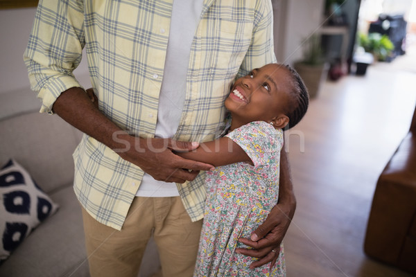 High angle view of girl embracing father Stock photo © wavebreak_media