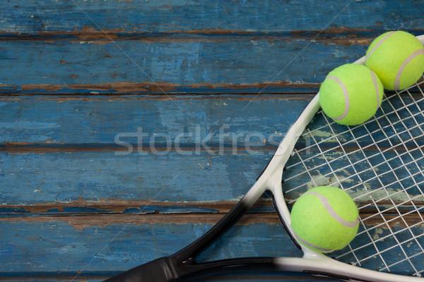 View racchetta da tennis tavolo in legno business Foto d'archivio © wavebreak_media