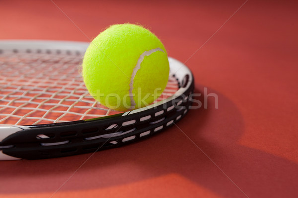 Tennisbal racket kastanjebruin business sport Stockfoto © wavebreak_media