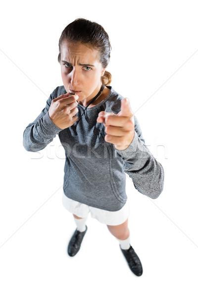 Tam uzunlukta portre kadın koç kadın Stok fotoğraf © wavebreak_media