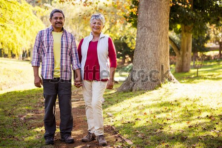 Smiling couple holding a wicker basket during safari vacation Stock photo © wavebreak_media